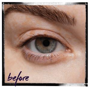 Before LVL lash treatment